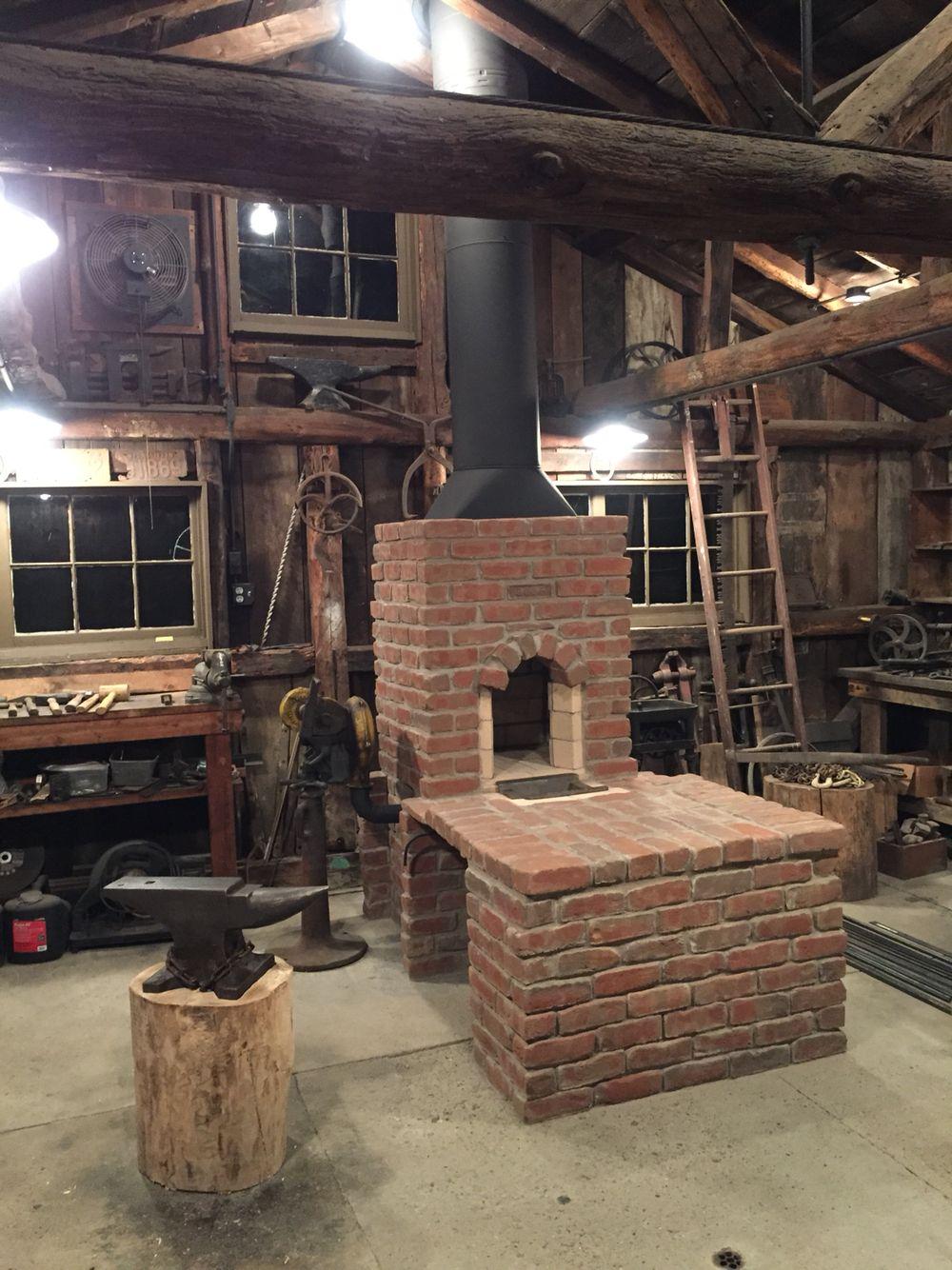Brick Coal Forge Side Draft Blacksmith Black