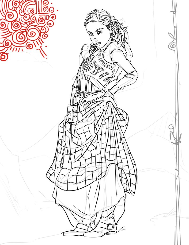 Character Design Wallpaper : Female character design sketches designfemale