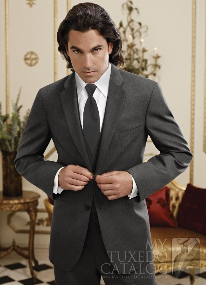 Click to Buy << New Arrival charcoal grey groom wear suits wedding ...
