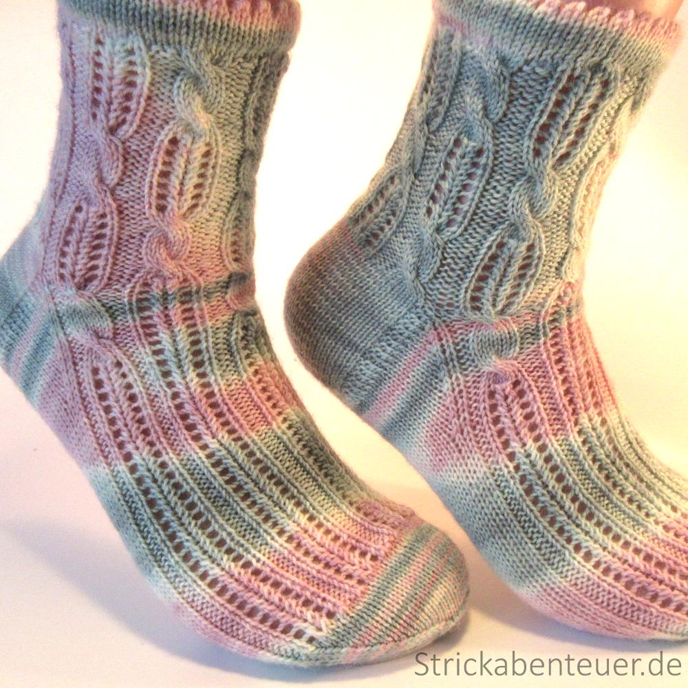 gestrickte Socken Muster Summer! Wolle Tauschendschön Wilder 3/16 ...