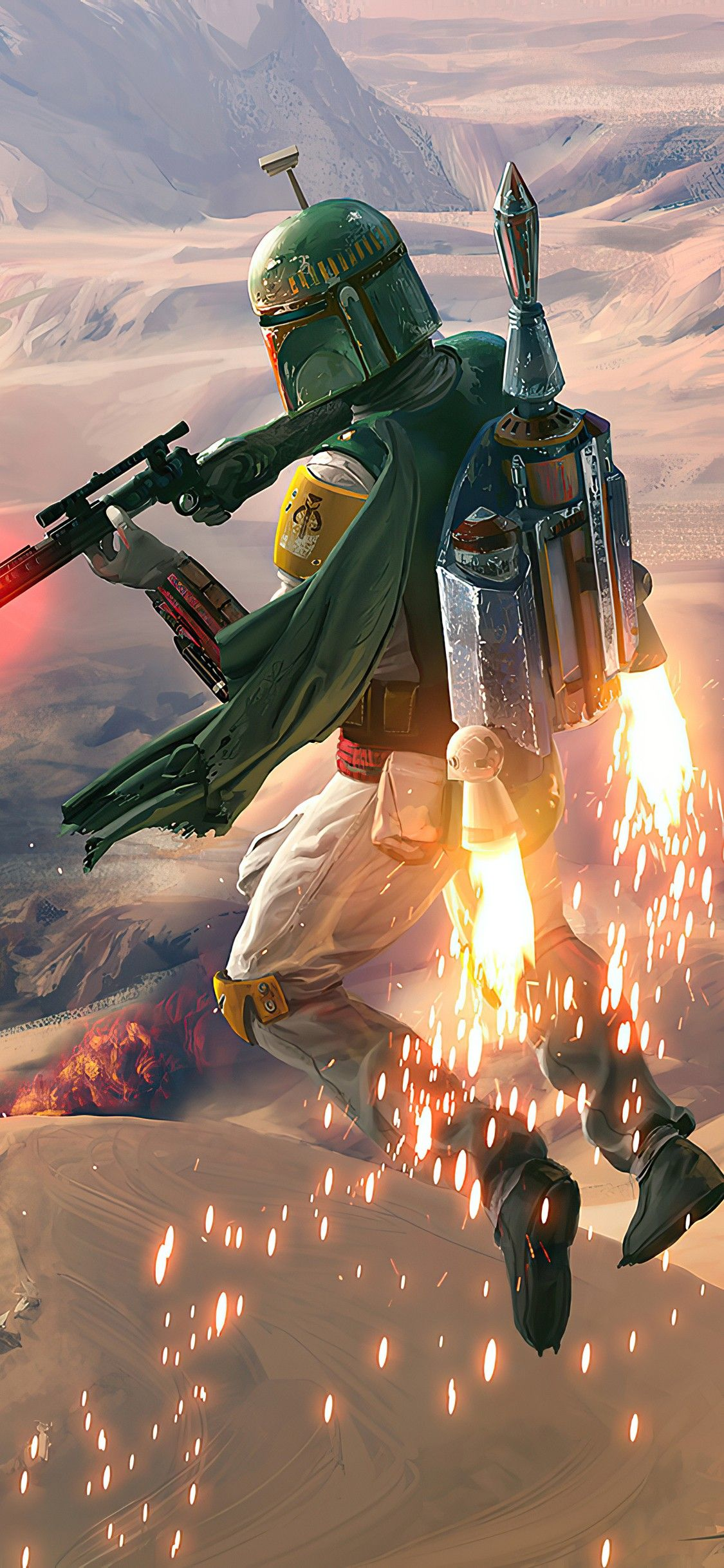 Boba Fett Wallpaper For Mobile Phone Tablet Desktop Computer And Other Devices Hd And 4k Wallpape In 2021 Boba Fett Wallpaper Star Wars Background Star Wars Pictures