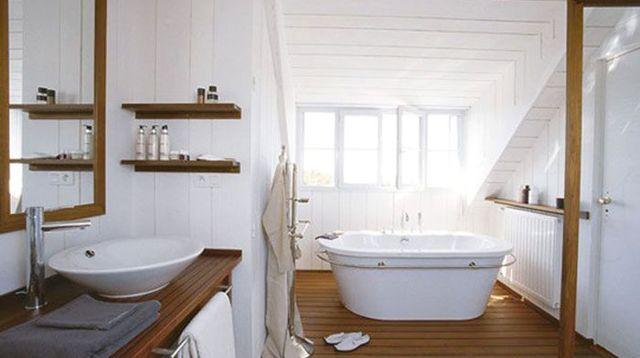 Salle de bains  alternatives au carrelage mural ? PVC, lambris - salle de bain ardoise
