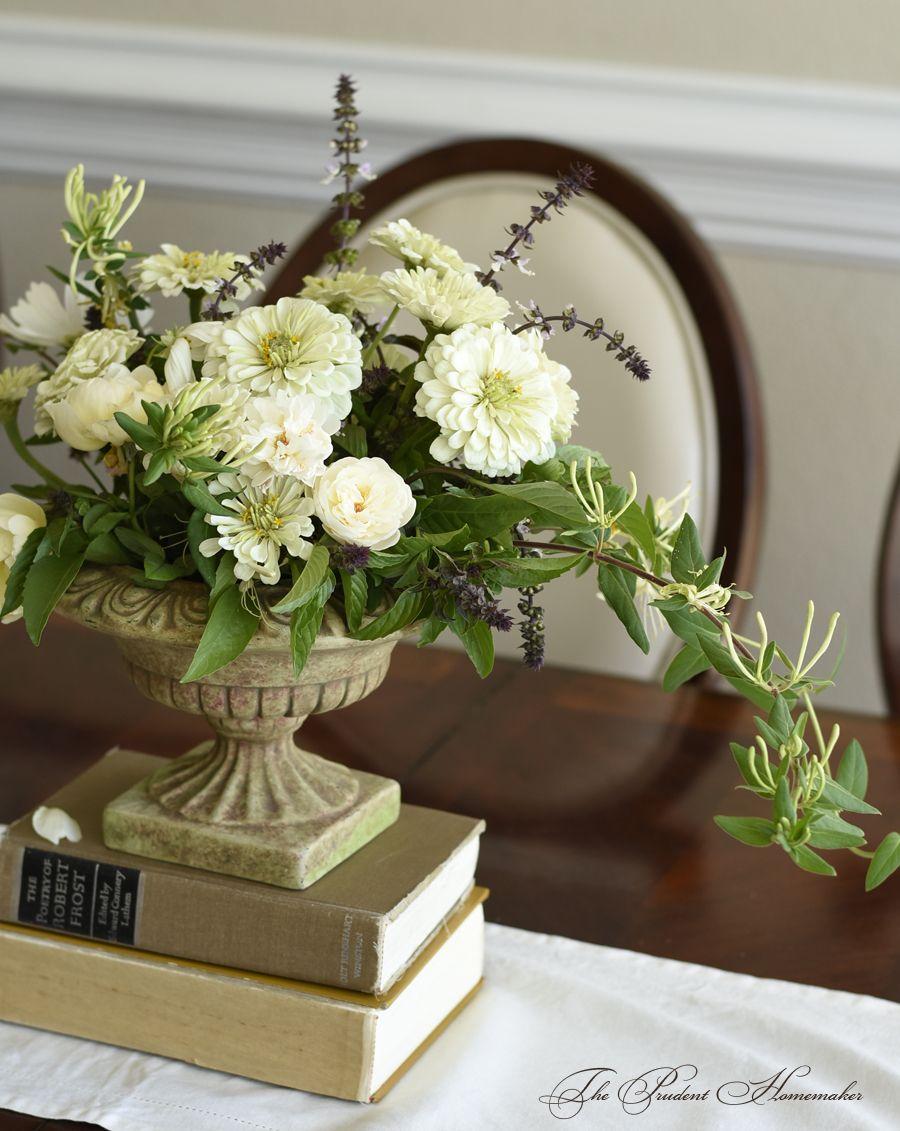Fall Zinnia Arrangement The Prudent Homemaker Цветочные