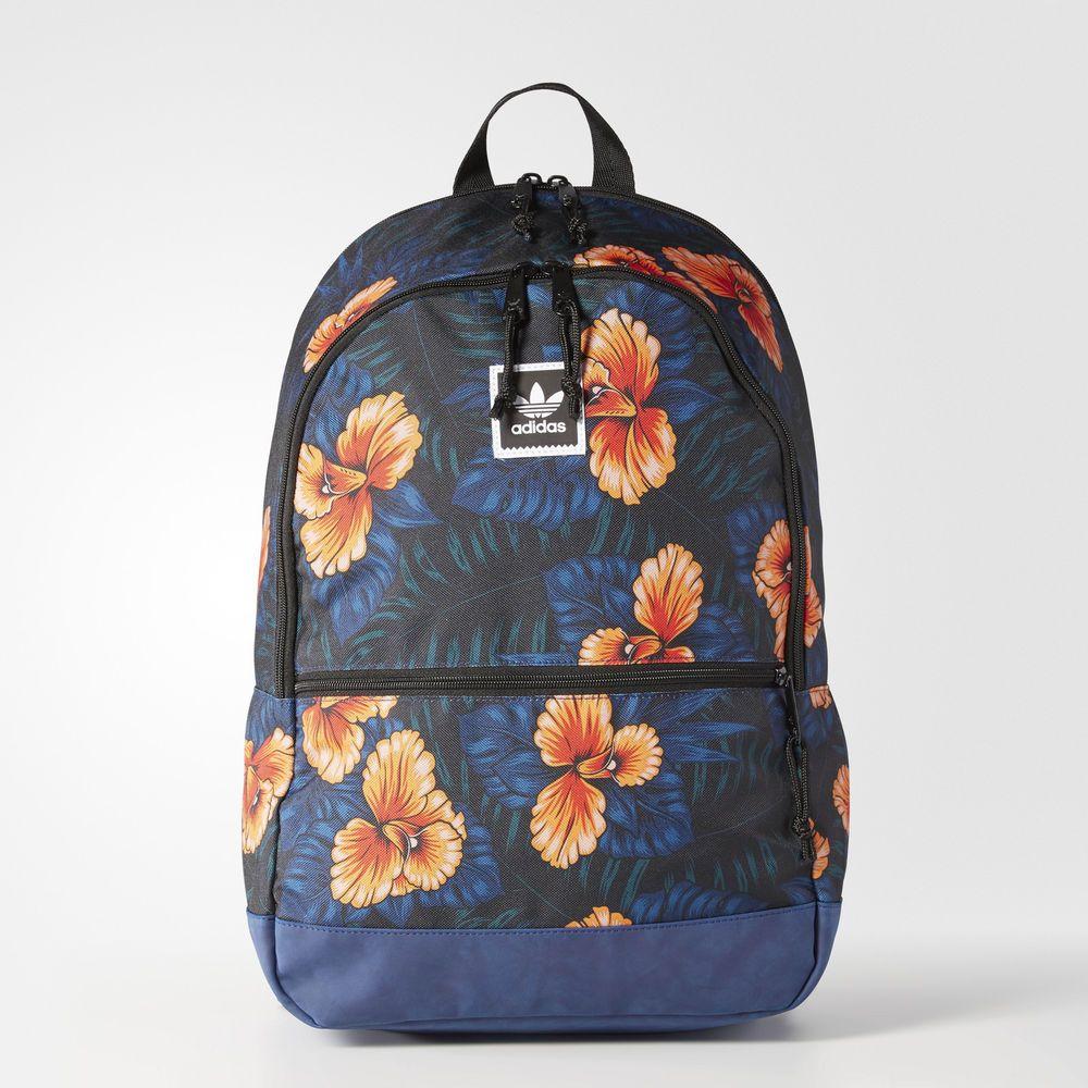 8115242e86 adidas Originals Trefoil Floral Backpack School Outdoor Running Sport Bag  BJ8832  adidas  Backpack