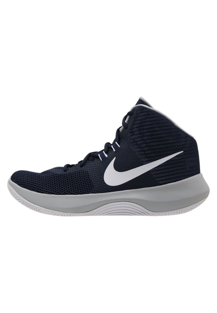 Nike Performance AIR PRECISION - Zapatillas de baloncesto midnight navy/white/wolf grey sA4njVpr