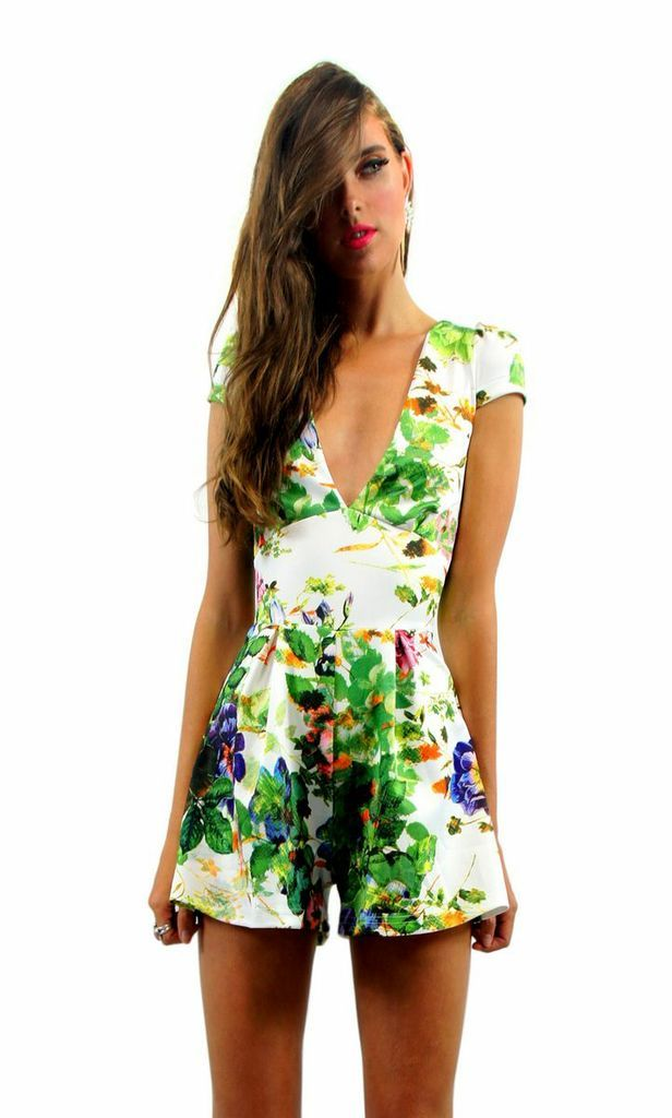 Rose print playsuit / romper from Ashanti Brazil - Shop