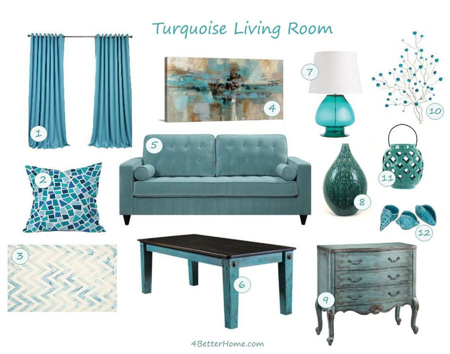 If You Like Turquoise or How to Furnish Turquoise Living Room ...
