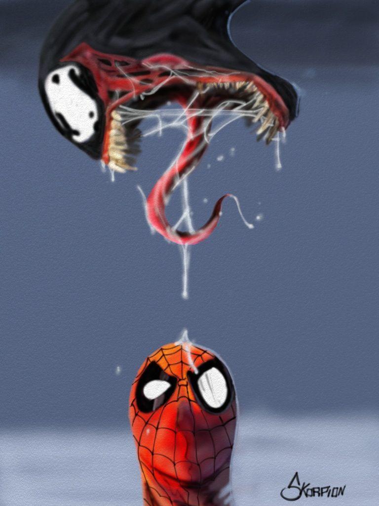 #Spiderman #Fan #Art. (Spiderman Vs. Venom) By: Sk0rpi0n. (THE * 5 * STÅR * ÅWARD * OF: * AW YEAH, IT'S MAJOR ÅWESOMENESS!!!™)[THANK Ü 4 PINNING!!!<·><]<©>ÅÅÅ+