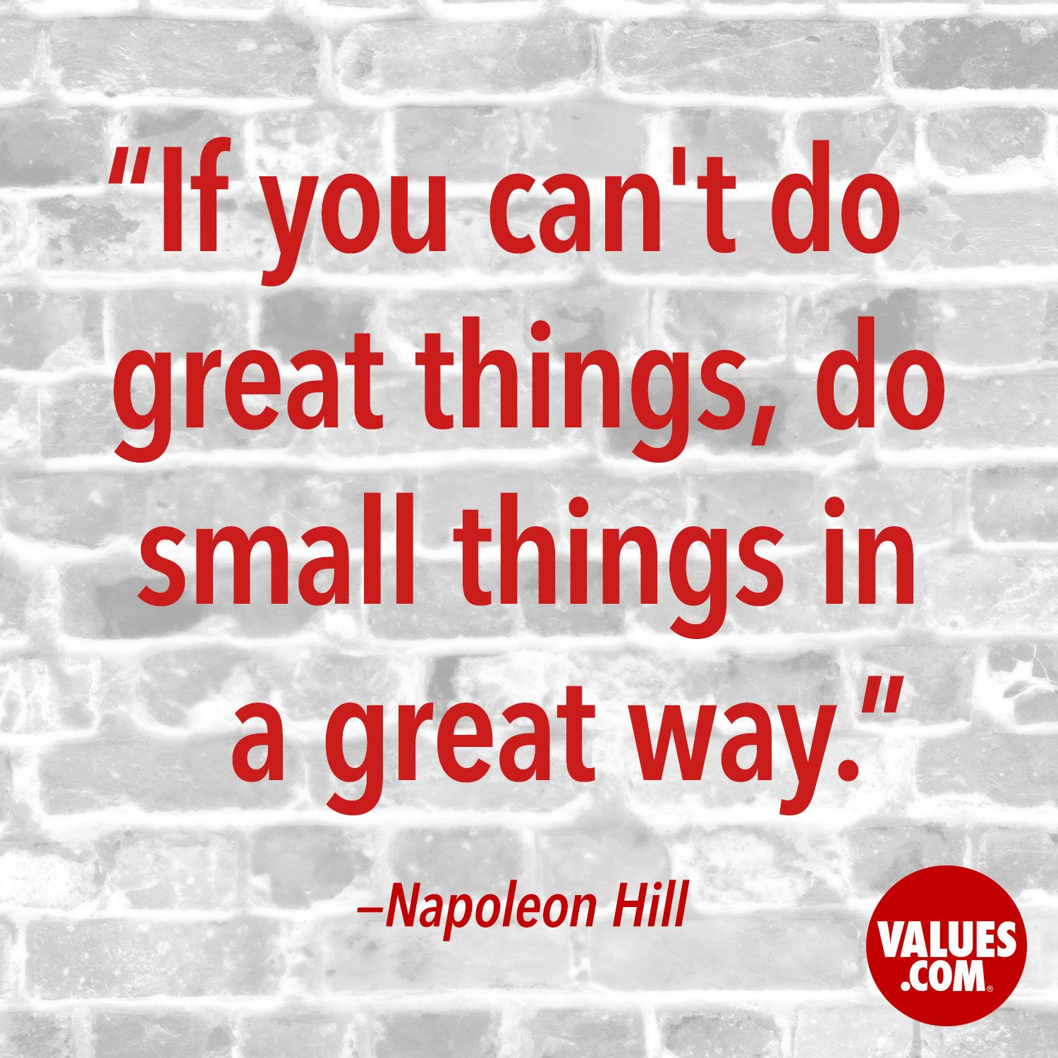 An inspirational quote by Napoleon Hill from Values.com | Quotes ...