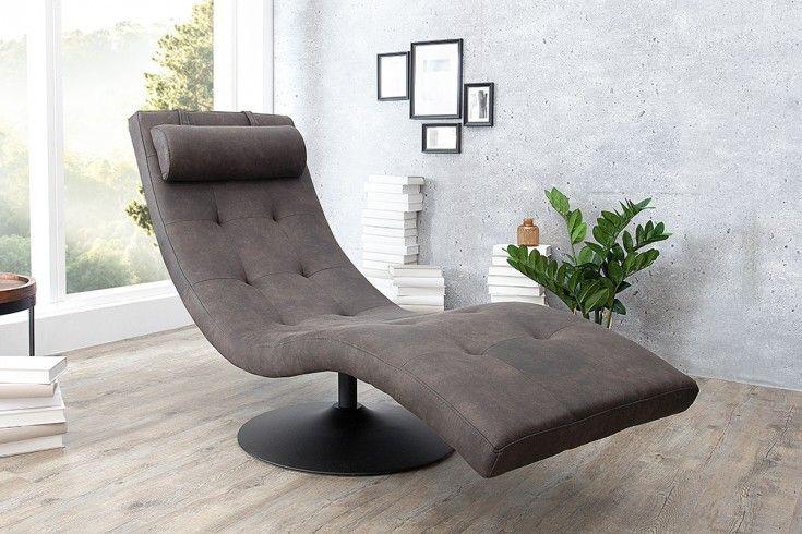 Relaxliege Design 200 extravagante design liege relaxo grau mit steppung relaxliege