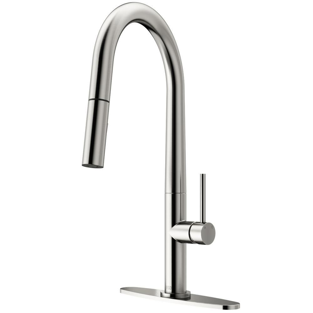 Vigo Greenwich Single Handle Pull Down Sprayer Kitchen Faucet With