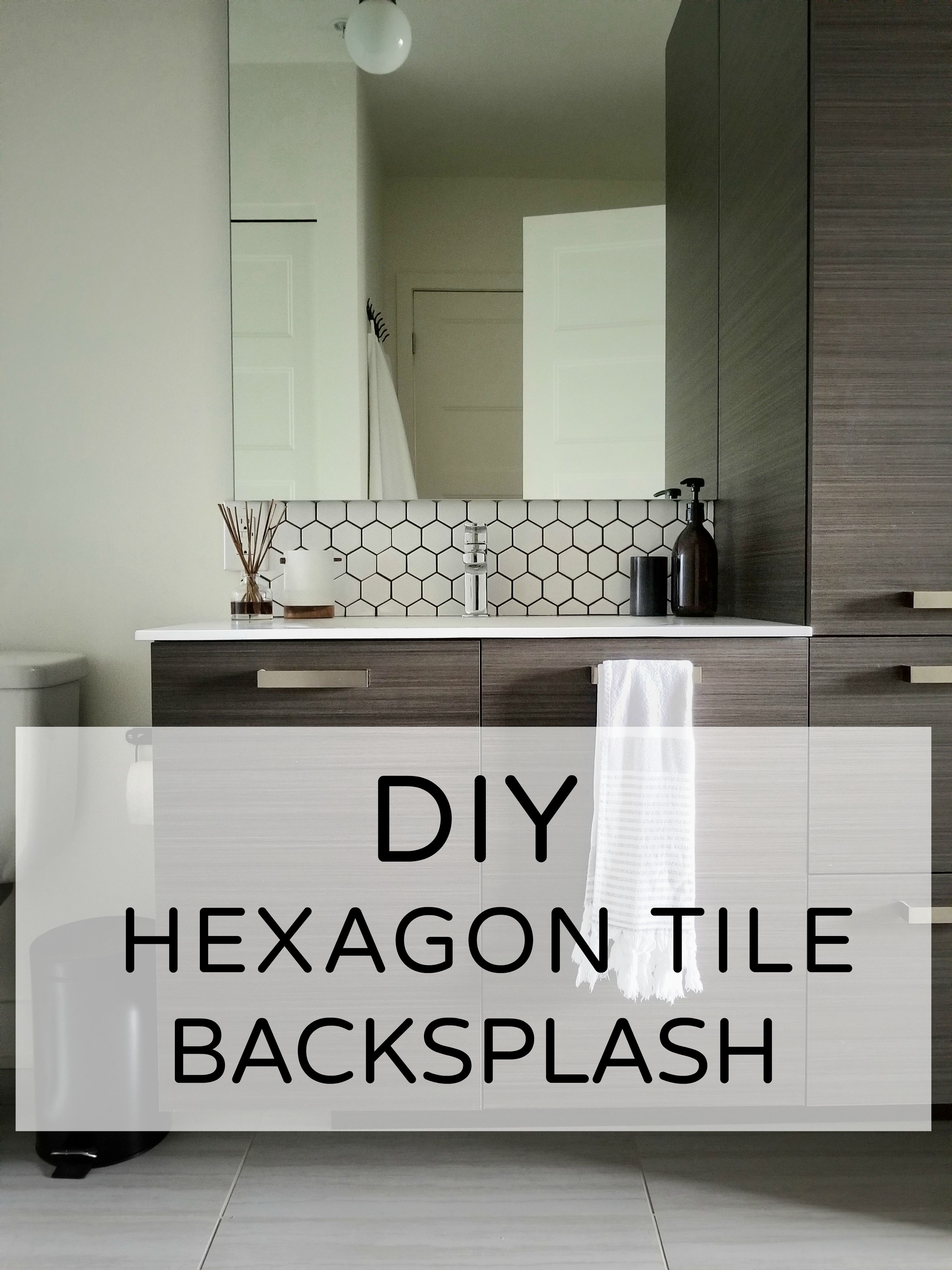 Hexagon Tile Backsplash How to Install Hex Tiles with Adhesive Tile