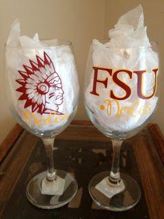 TDY Designs: FSU Wine Glass