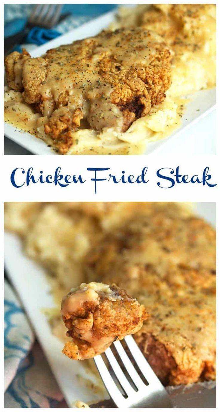 Photo of #friedchicken #friedsteak #flavorful #topsteak #drizzled-#fr…