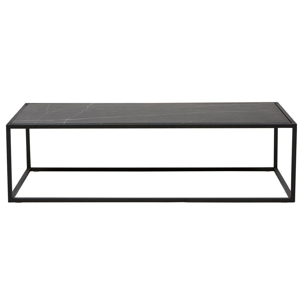 Elle Cube Marble Coffee Table Matte Black Marble Black Marble Coffee Table Coffee Table Black Marble