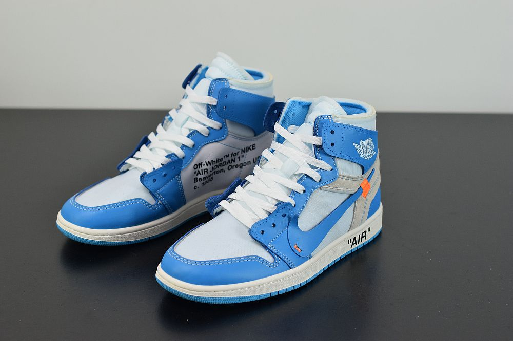 Off White X Air Jordan 1 Unc University Blue Aq0818 148 In 2020