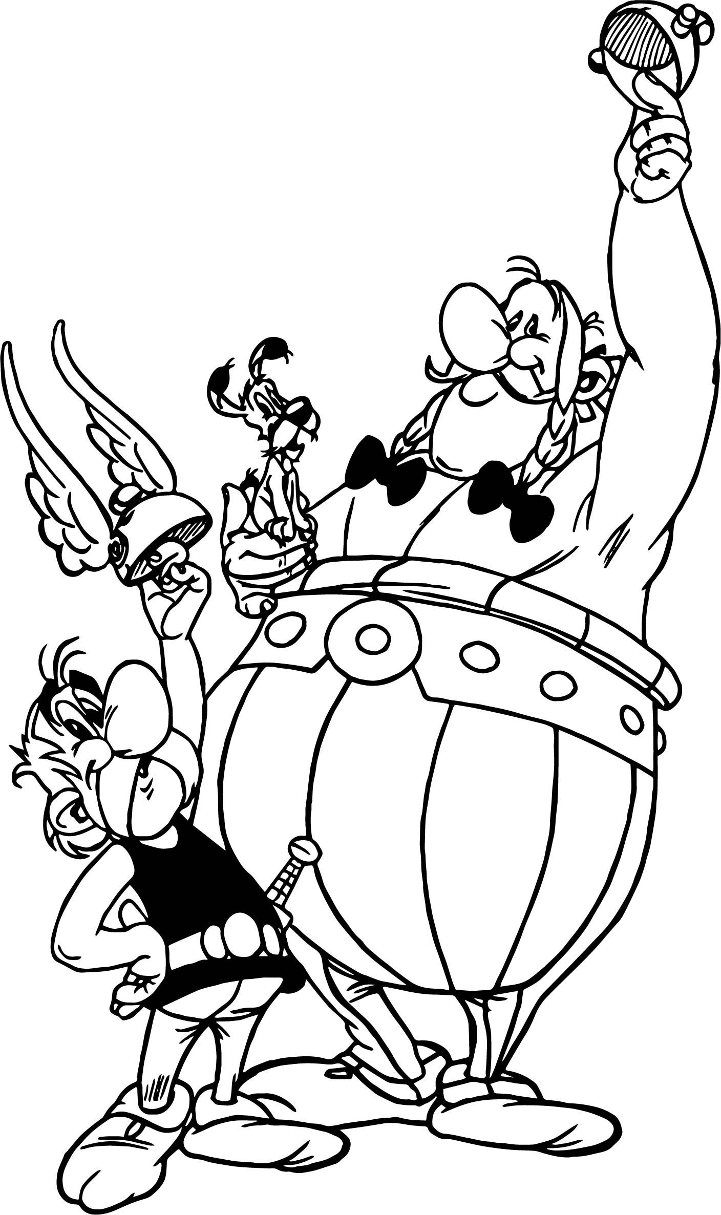 Awesome Asterix Obelix Dog Winner Coloring Page Coloring Pages Art Art Drawings