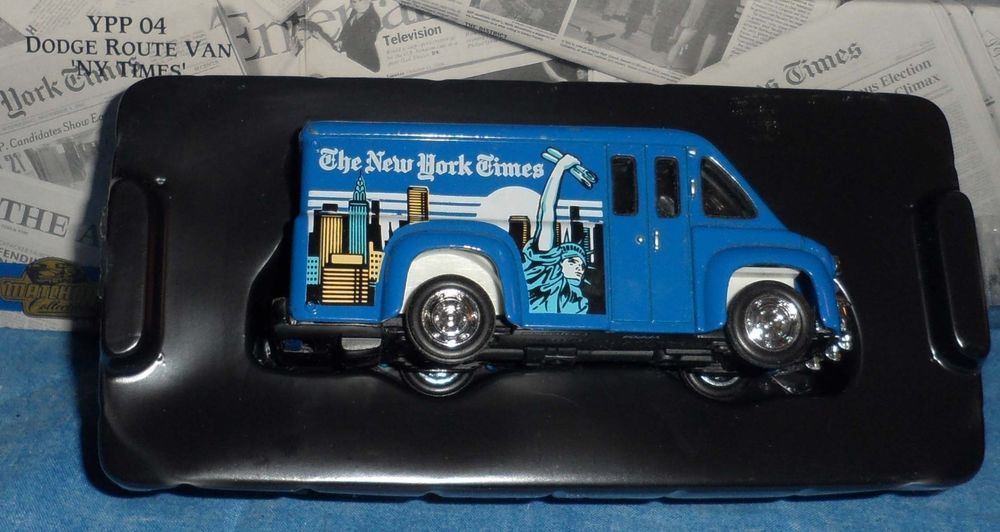 Matchbox Power Of The Press New York Times Dodge Route Van 1995 C9 Matchbox Van Power
