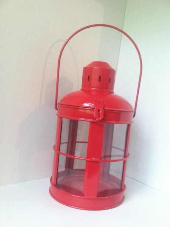 Cute Red Lantern Candle Holder by UnisonGeneral on Etsy, $12.00