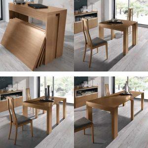 Mesa consola extensible delia muebles mesa consola for Mesas pequenas extensibles comedor