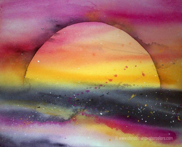 Easy watercolor paintings for beginners watercolor for Watercolor ideas easy