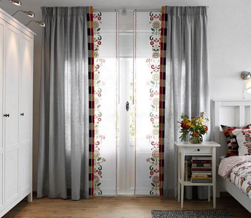 Cortinas y paneles japoneses de Ikea para ventanas  Ideas