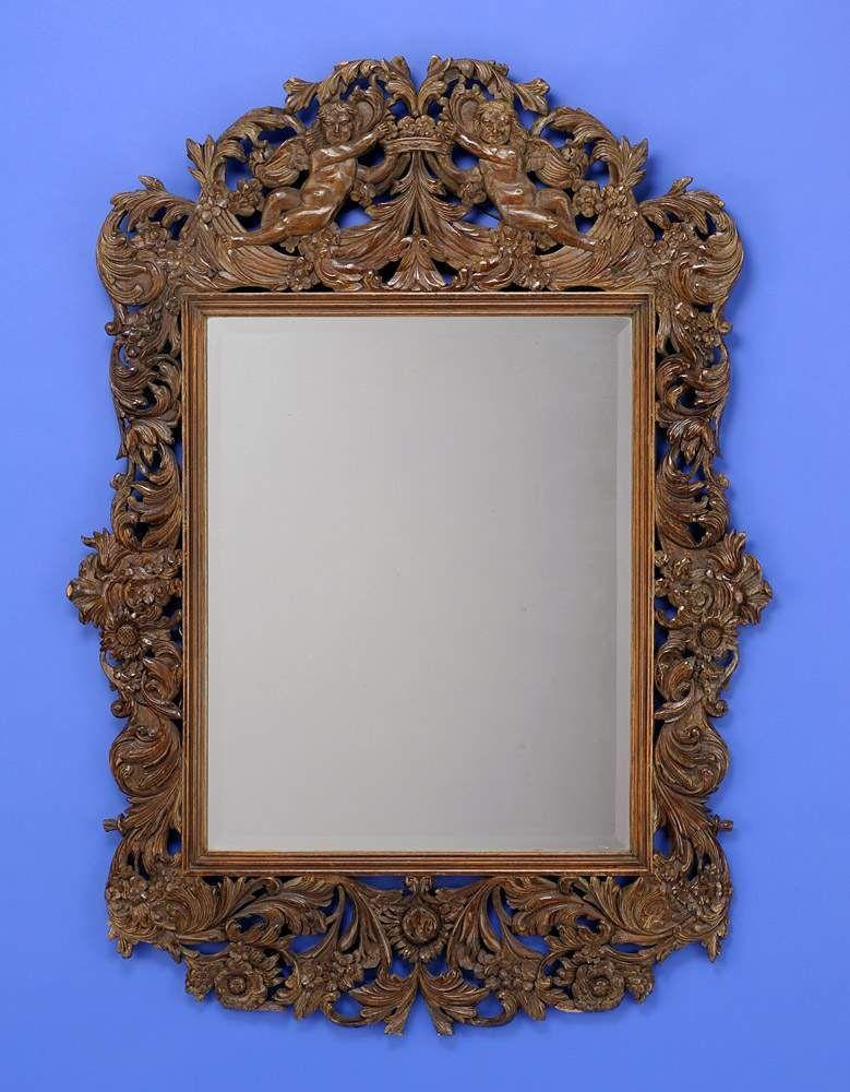Spiegel im Barock-Stil Durchbrochen geschnitzt. 118 x 87 cm — Varia ...