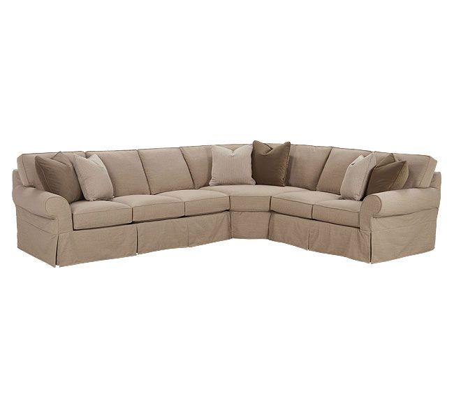 Morgan N705 Slipcovered Sectional Rowe Family Room