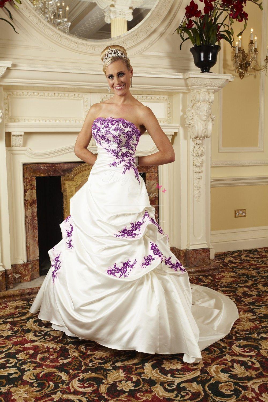 Pin By April Wade On Wedding Purple Wedding Dress Wedding Dresses Unique Pretty Girl Dresses [ 1500 x 1000 Pixel ]