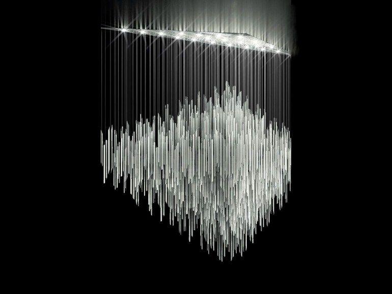Led Crystal Chandelier Bamboo Lighting Sculptures Collection By Lasvit Design Jitka Kamencová Skuhravá