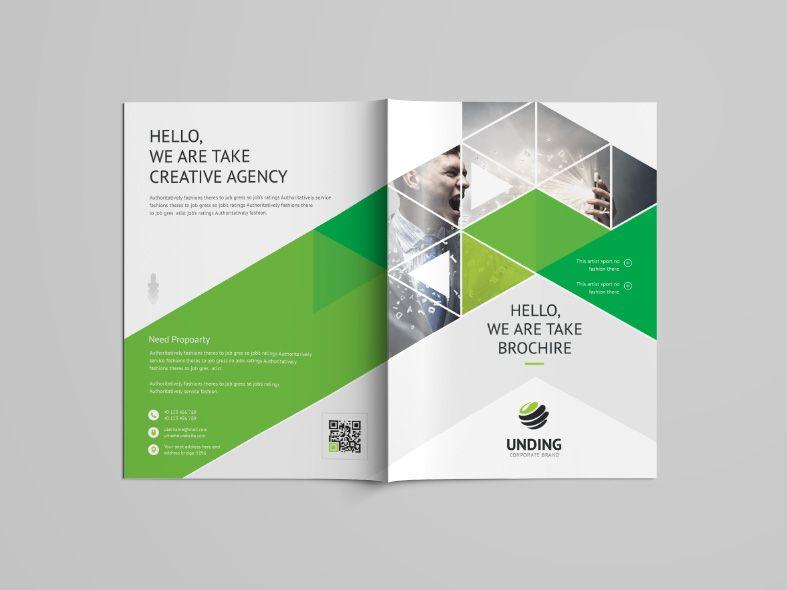 Stunning Professional Bi Fold Brochure Template Graphic Templates Bi Fold Brochure Brochure Template Brochure