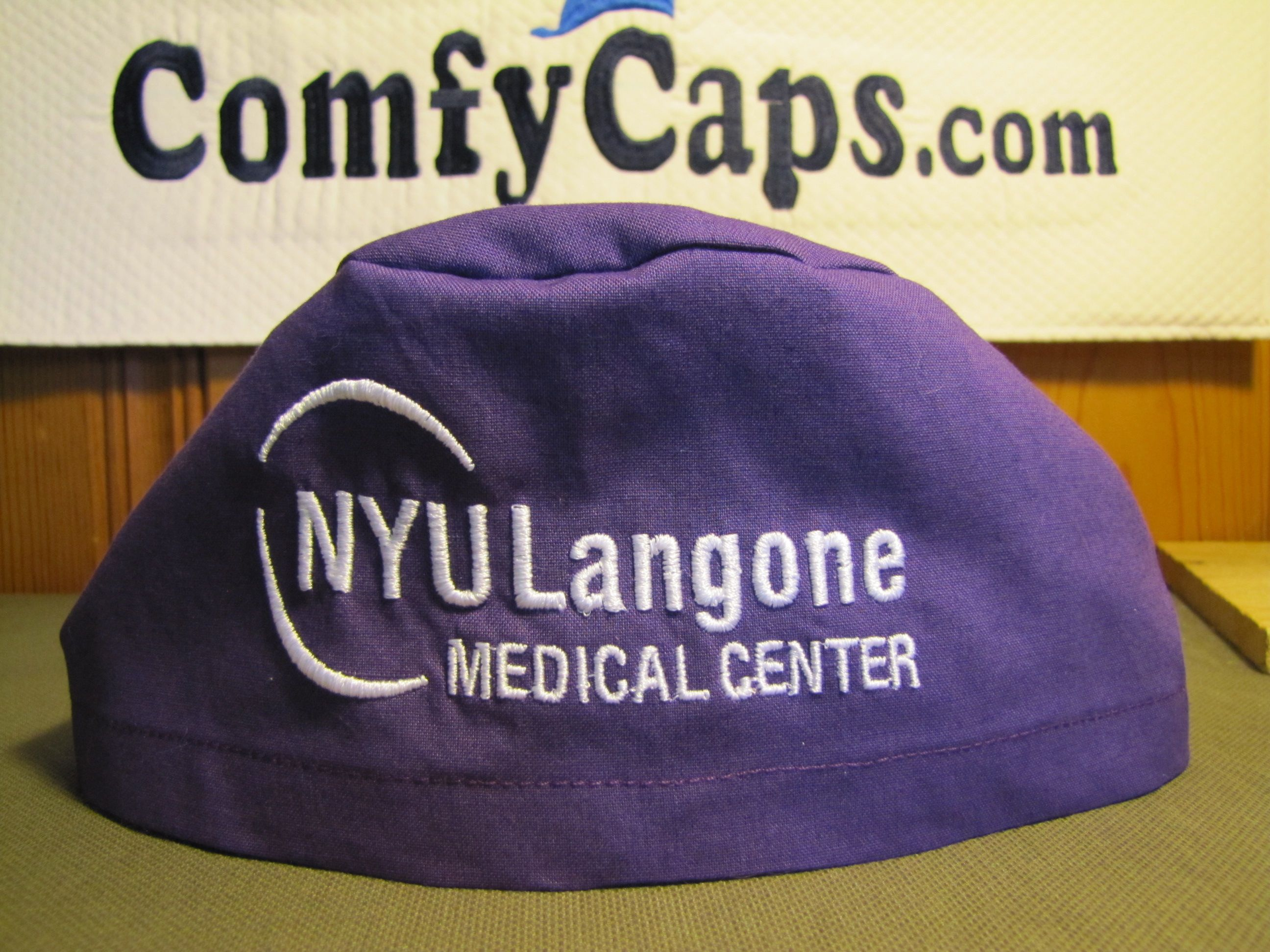 NYU Langone Medical Center logo embroidered on a Comfycaps