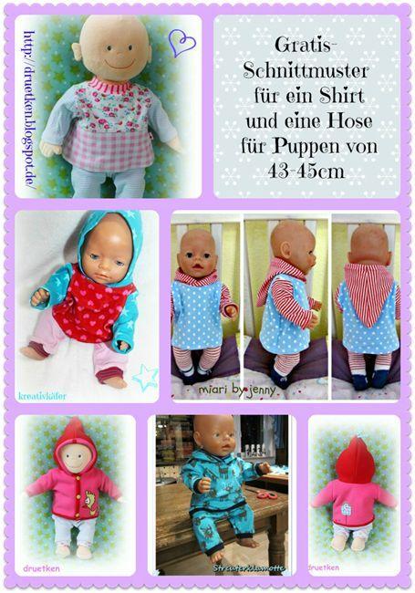 luni & druetken: Mein Weihnachtsgeschenk für euch...ein Gratis-Schnittmuster! #dollscouture