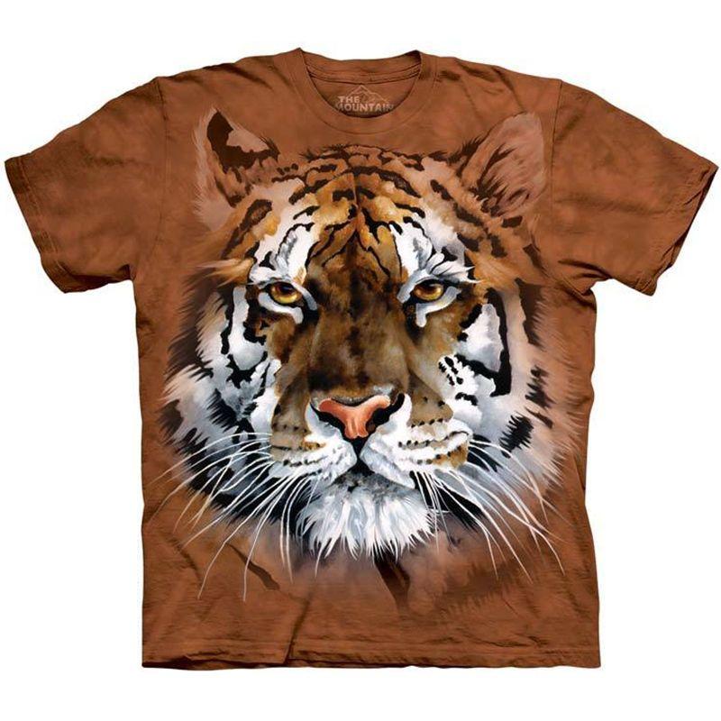 92f0dfafa14e Fierce Tiger T-Shirt The Mountain Big Face Art Majestic Bengal Cat Men's Tee  NEW #tigershirt #fiercetiger #tigerface