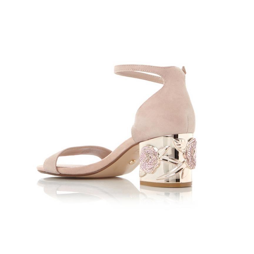 6ee8a2a1ac19 MAYGO - Rose Embellished Block Heel Sandal - blush