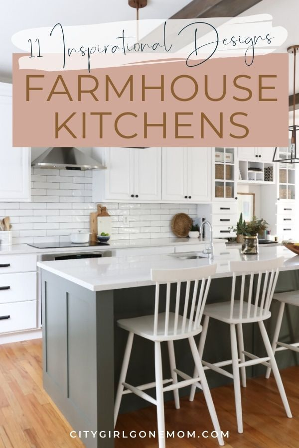 Modern Farmhouse Kitchen Design Tips. Whether you love bright and open or stylish and sleek, we've found all of the modern farmhouse kitchen inspiration for your next interior design makeover.  All the details for the modern yet rustim dream kitchen - ideas for cabinets, table, countertops, sink, lighting and more.   Check out this inspiration for your remodel or DIY project #homedecor #farmhousedecor #farmhousekitchen #kitchenremodel #homedecorkitchen #homedecorideas