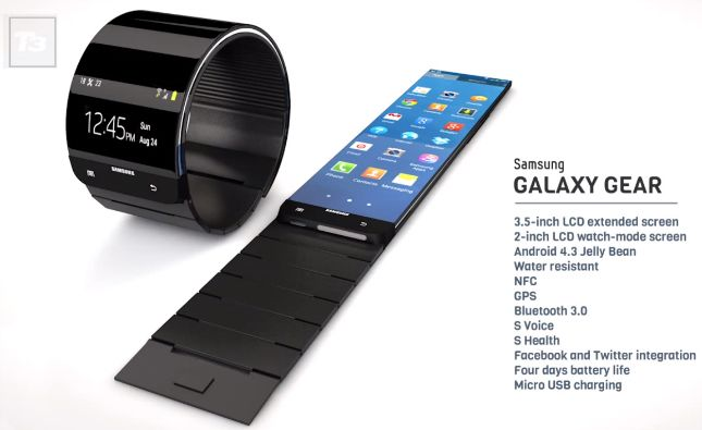 Galaxy Gear Concept Video Insists On A Flexible Display Smartwatch Digital Gadgets Samsung Galaxy Samsung