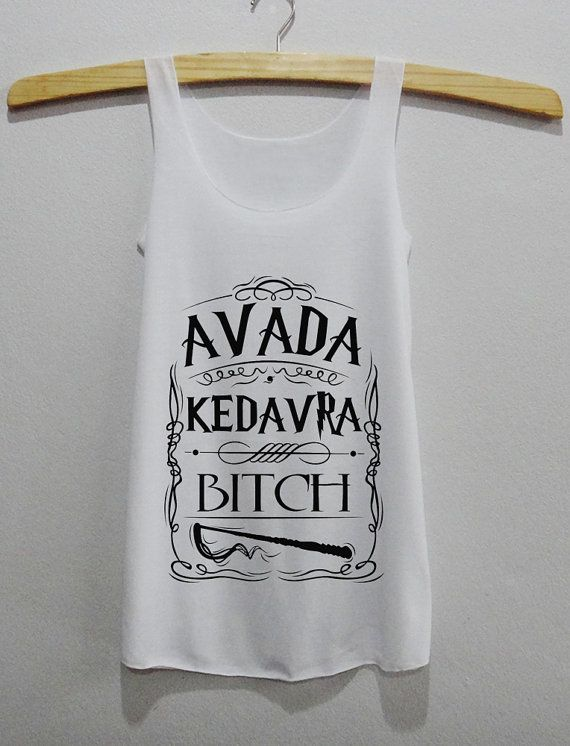 Avada Kedavra Bitch Magic Spell Harry Potter Tank Top by HPpoint