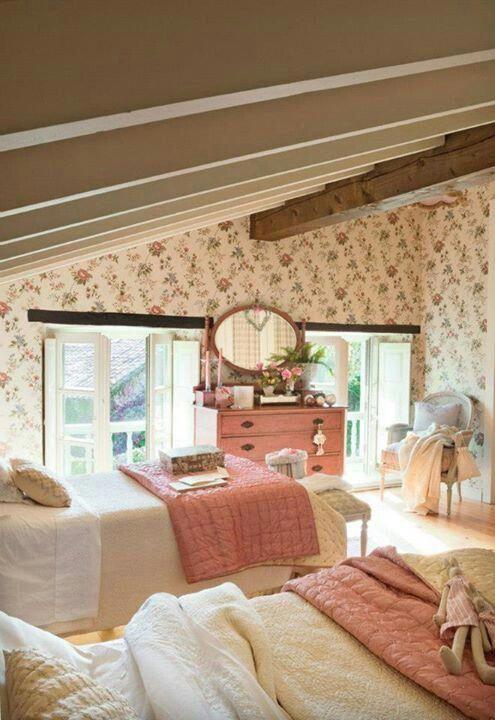 Girly #romanticcottagestyle | Schlafzimmer design, Landhaus ...