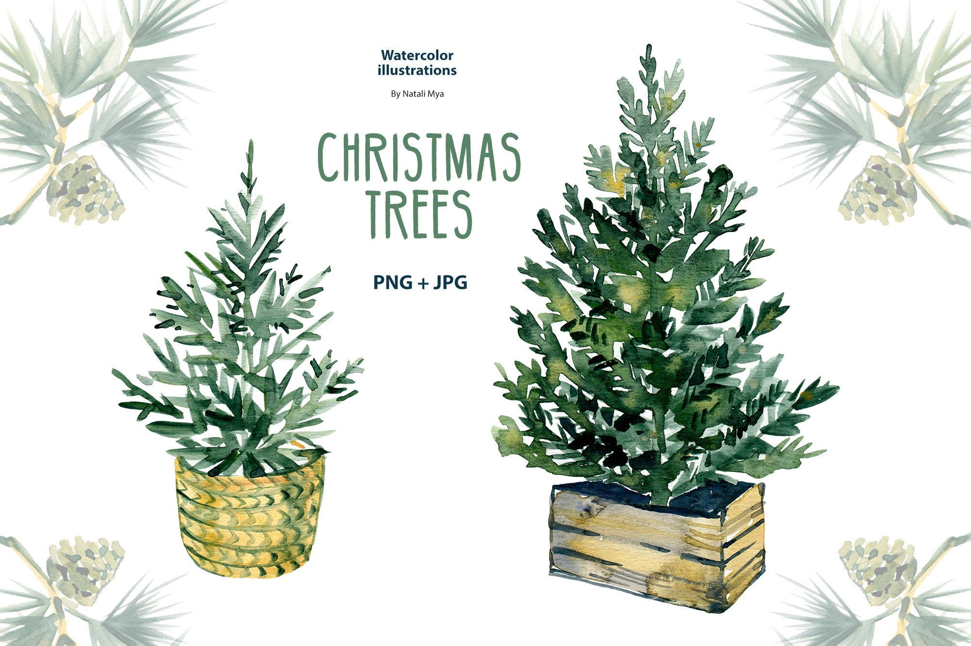 Watercolor Christmas Tree Png Clipart Christmas Trees Png Etsy Christmas Tree Clipart Watercolor Christmas Tree Christmas Watercolor