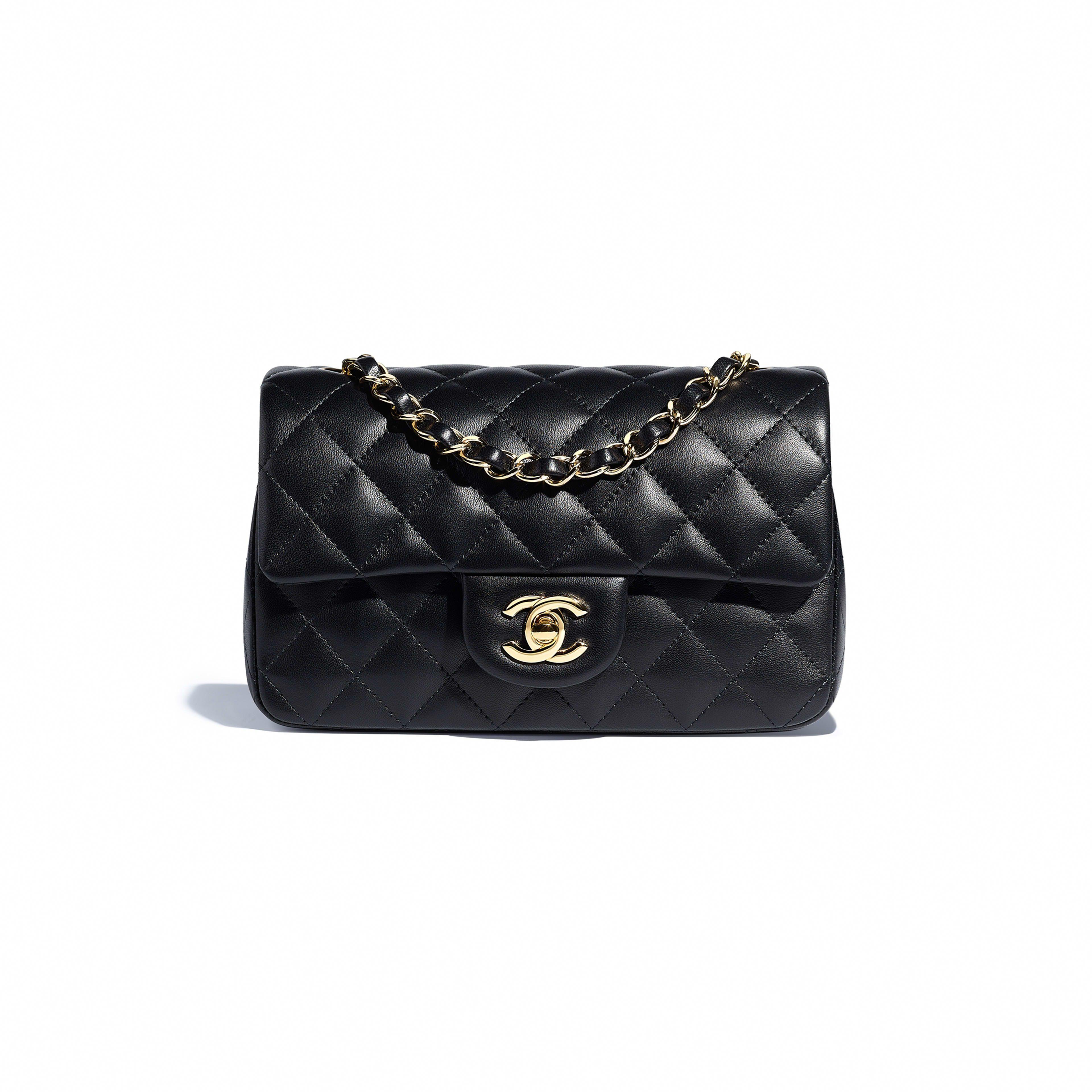 936f6d69d6ad CHANEL Mini Flap Bag Lambskin & Gold-Tone Metal Ref. A69900 Y04059 94305  $3,300 Dimensions 12.5 x 20 x 7 cm ( in ) Lambskin & Gold-Tone Metal Color  Black # ...