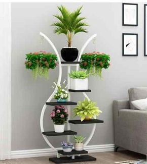 Shelf flowerpot shelf balcony shelf living room simple decorative vase flower shelf indoor balcony flowerpot hanging|Storage Holders & Racks|   - AliExpress