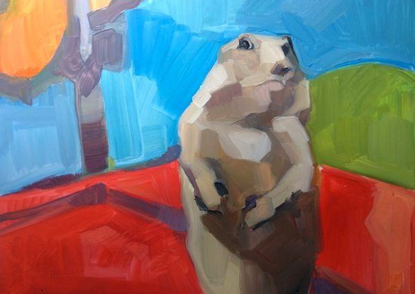 Awesome dramatic chipmunk painting  Lauren Kaelin, Virtuoso