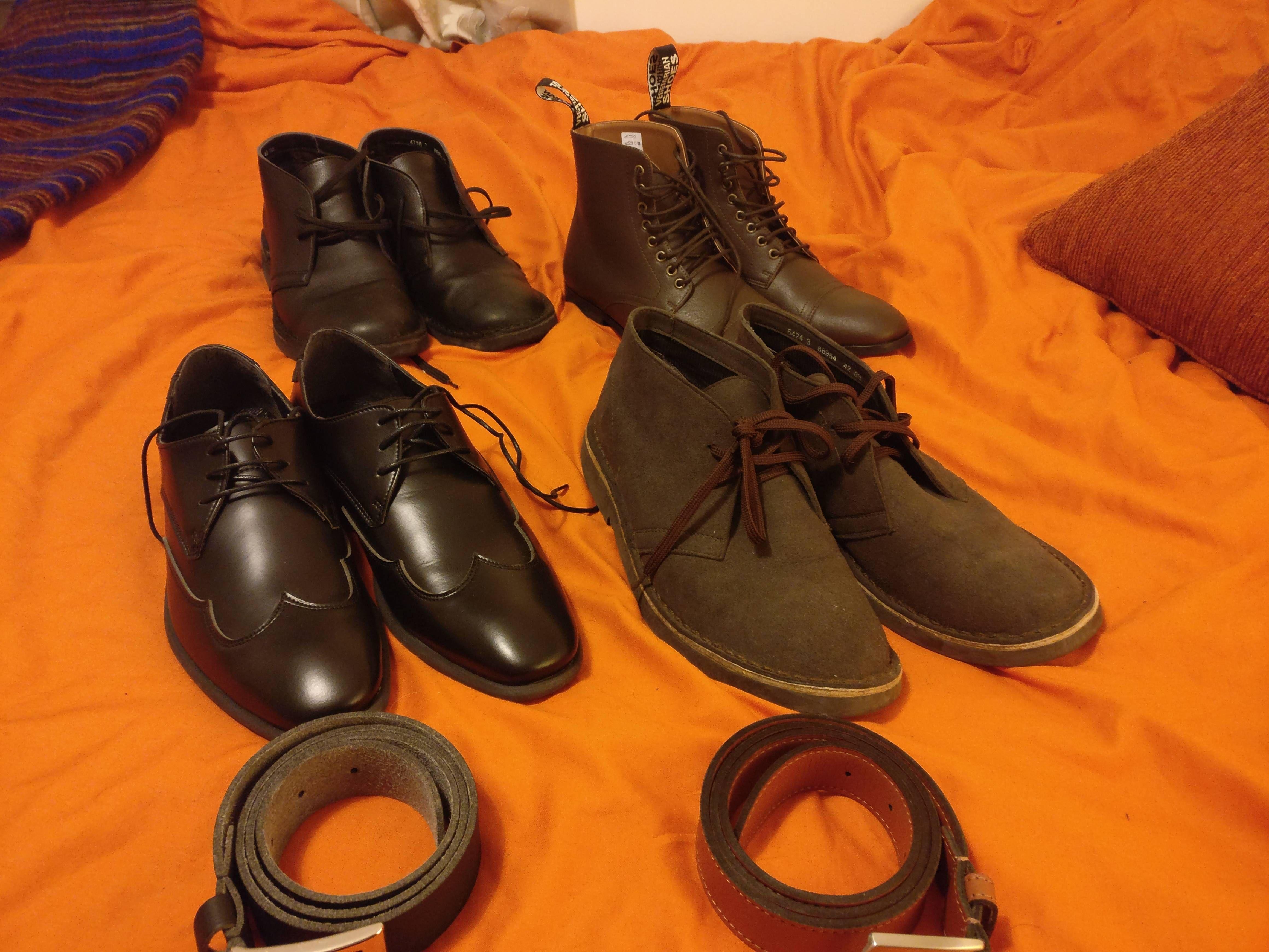 Vegan shoe and belt family