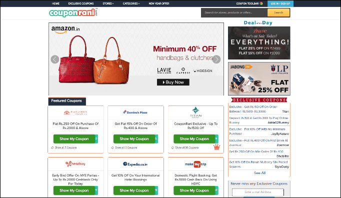 CouponRani Review: Best Deals and Coupon Codes for Online Shopping