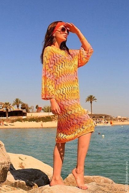 14fde933251a8cc Пляжные платья ручной работы. Ярмарка Мастеров - ручная работа Туника  пляжная