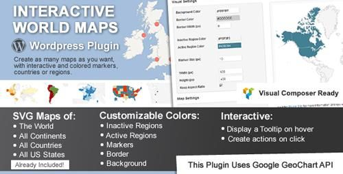 CodeCanyon - Interactive World Maps v21 - 2874264 Graphics - new world map software download for mobile