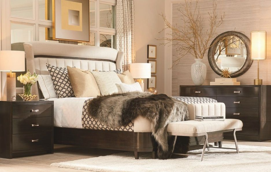 Prossimo Contemporary Queen Upholstered Shelter Bed by A.R ...