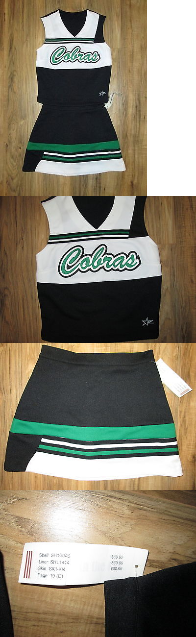 Cheerleading 66832: Cheerleader Uniform Cobras Cheer Outfit Costume 32/24 Teen Adult Small Authentic BUY IT NOW ONLY: $40.0
