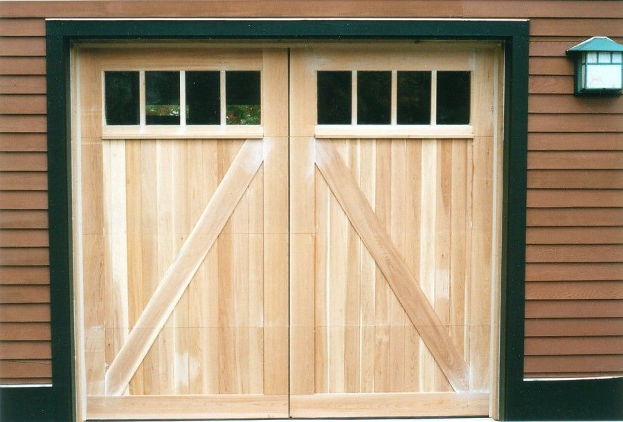 Build A Rustic Door Barn Style Garage Doors Designed By Builder To Match The Existing Barn Style Garage Doors Garage Doors Carriage House Doors